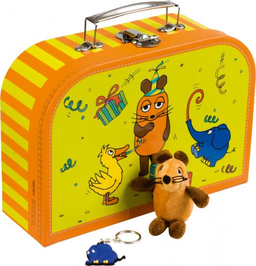 Sendung mit der Maus. Koffer-Set. Mit Fingerpuppe und Schlüsselanhänger.