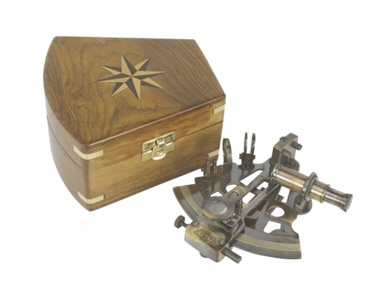 Sextant in Holzbox