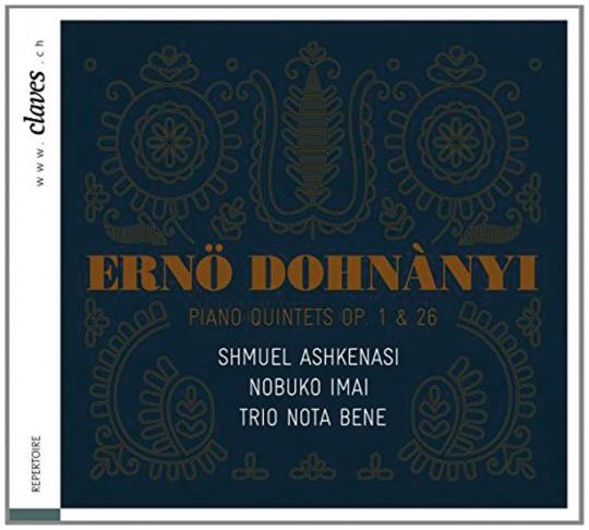 Shmuel Ashkenasi, Nobuko Imai, Trio Nota Bene. Ernst von Dohnanyi. Klavierquintette Nr. 1 & 2. CD.