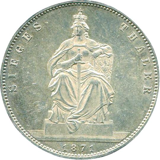 Siegestaler 1871 Wilhelm I. von Preußen
