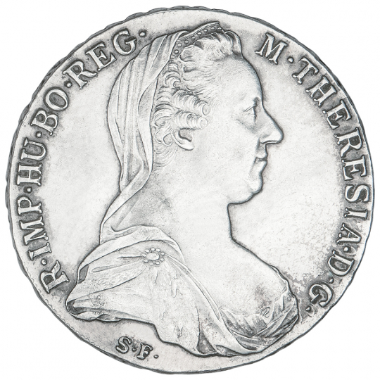Silbermünze Maria Theresia.