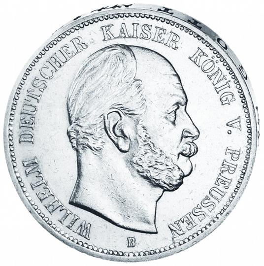 Silbermünzen aus der Regierungszeit des Eisernen Kanzlers: 2 Mark und 5 Mark Silberset - Originalmünzen