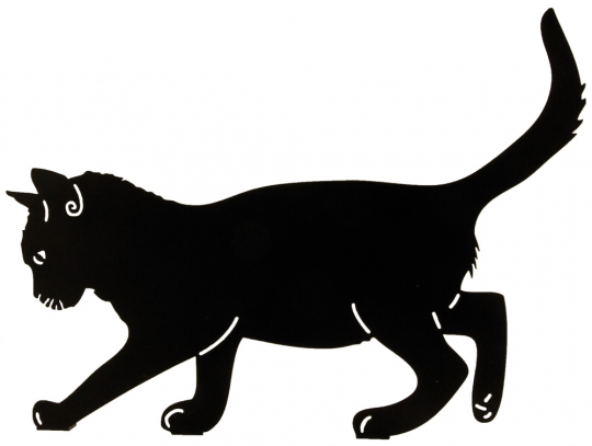 Silhouette »Balancierende Katze«.