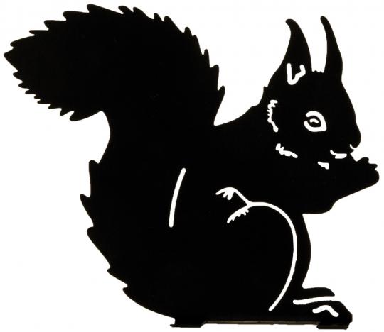 Silhouette »Essendes Eichhörnchen«.