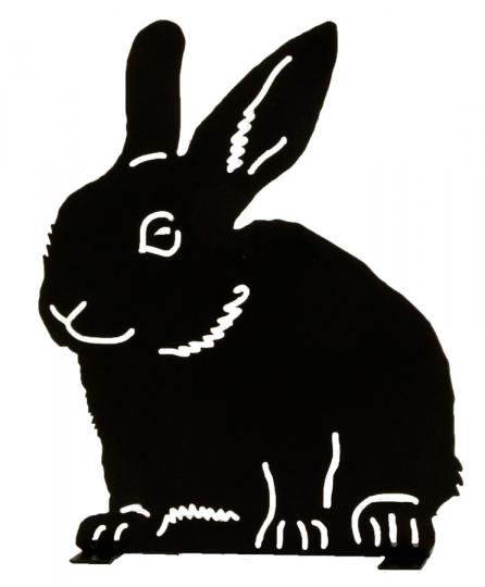 Silhouette »Sitzendes Kaninchen«.