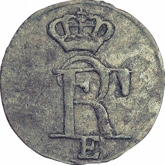 Solidus (Schilling) - Original Silbermünze aus der Zeit Friedrichs des Großen