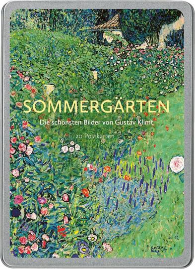 Sommergärten. Die schönsten Bilder von Gustav Klimt. Postkarten-Set.