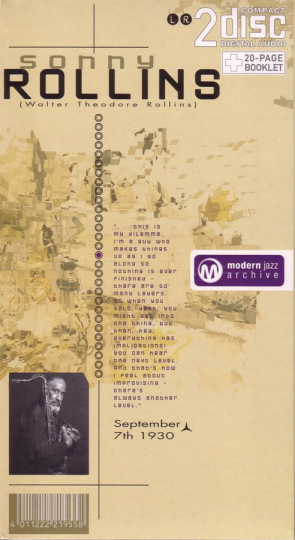 Sonny Rollins. The Stopper / Oleo. Classic Jazz Archive. 2 CDs.