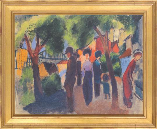 Spaziergänger unter Bäumen. August Macke (1887-1914).