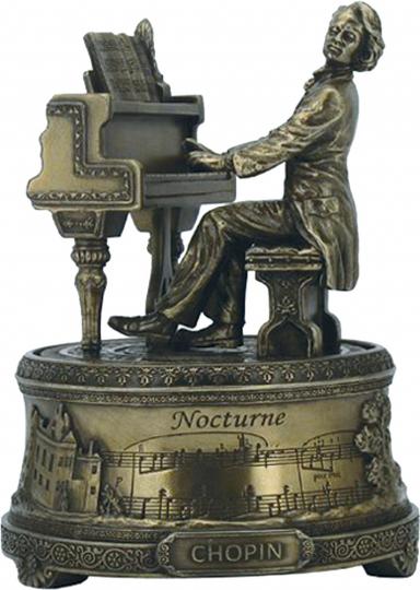 Spieluhr »Chopin am Klavier«.