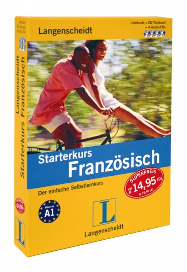 Starterkurs Französisch - Lehrbuch, Textbuch und 4 Audio-CDs