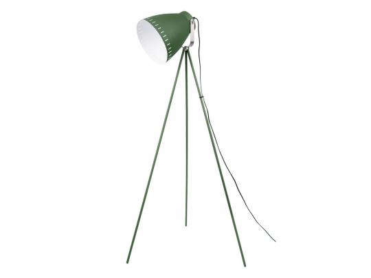 Stehlampe mit 3 Beinen, grün.