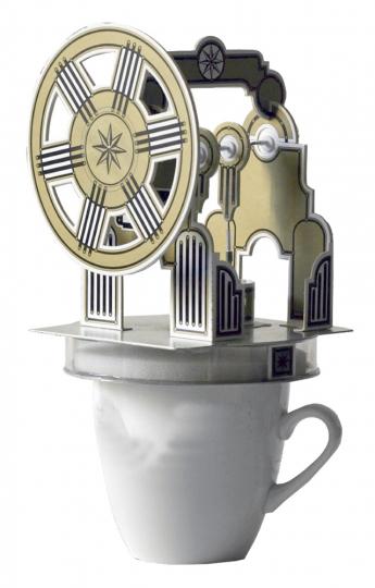 Kartonbausatz Stirling-Motor.