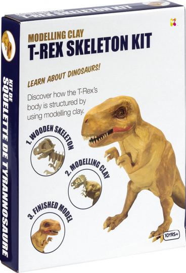 T-Rex Skelett. Modelliermasse.