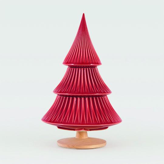 Tannenbaum Keramik, rot.