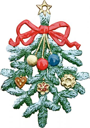 Tannenzweig. Weihnachtsanhänger.