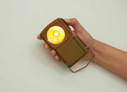 Taschenlampe zum Morsen.