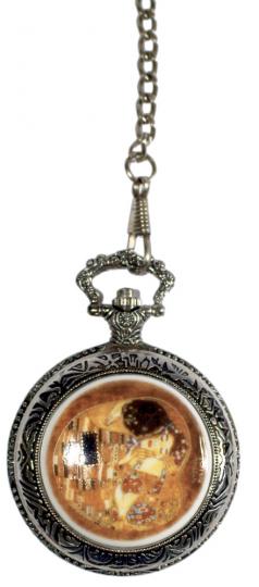 Taschenuhr Klimt - Mit Porzellandeckel
