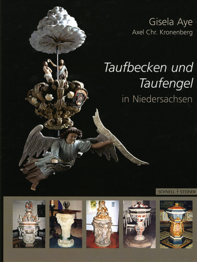 Taufbecken und Taufengel in Niedersachsen.