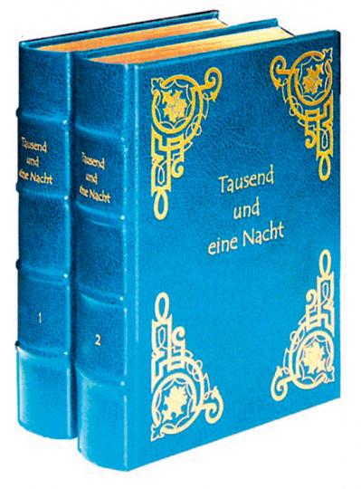 Tausend und eine Nacht. Gesamtausgabe in nachtblauem Ledereinband. 2 Bände.