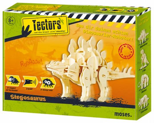 Tectors Dinosaurier- Modell Stegosaurus 3D-Puzzle mit 75 Holzteilen. Ca. 32 cm x 16 cm