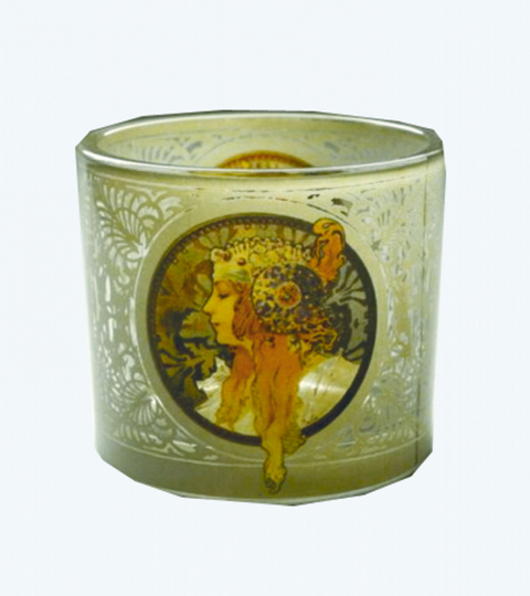 Teelicht Alphonse Mucha.