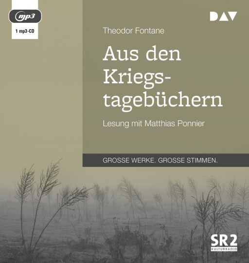 Theodor Fontane. Aus den Kriegstagebüchern. 1 mp3-CD.