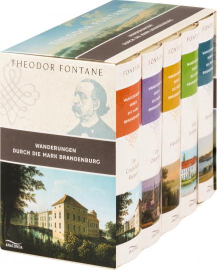 Theodor Fontane. Wanderungen durch die Mark Brandenburg. 5 Bände im Schuber.