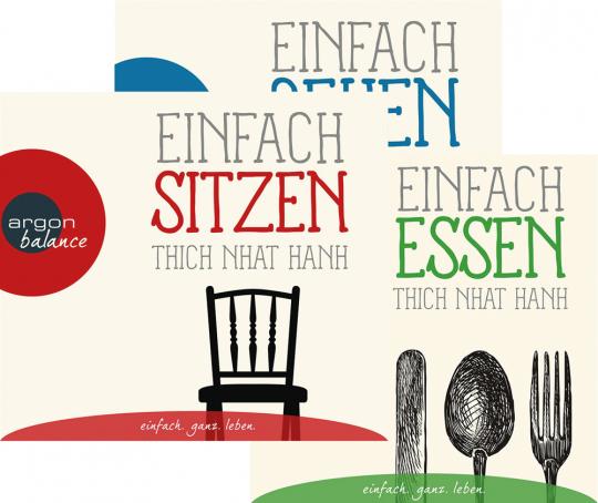 Thich Nhat Hanh Hörbücher Set. Einfach sitzen, laufen, essen. 3 CDs.