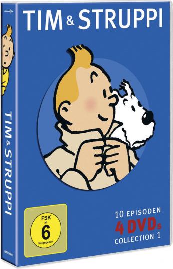 Tim und Struppi Collection Vol. 1. 4 DVDs.