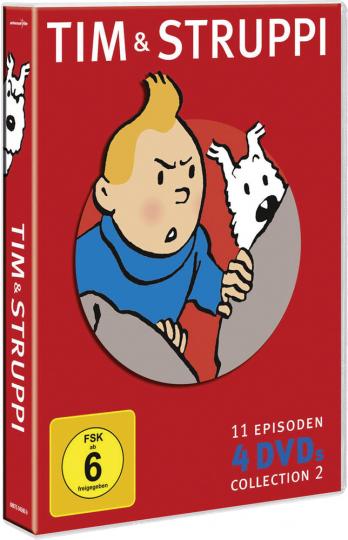 Tim und Struppi Collection Vol. 2. 4 DVDs.