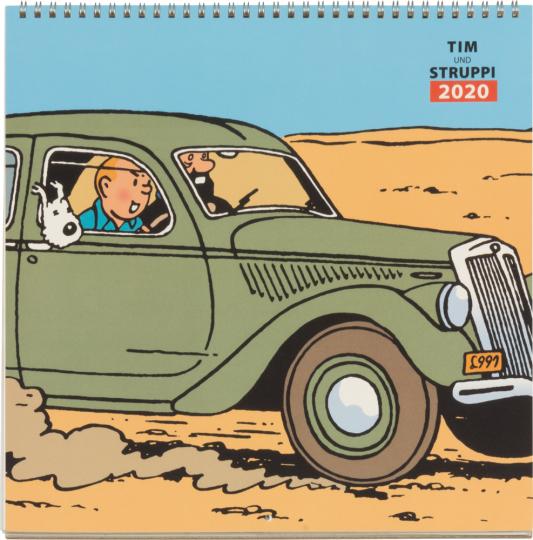 Tim und Struppi. Wandkalender 2020.