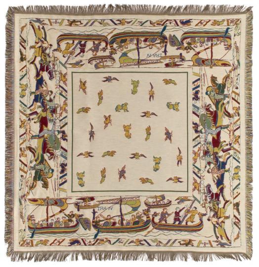 Kunstvolles Tuch »Teppich von Bayeux«, Schiffe.