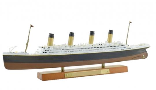 Titanic Modell + Blechschild 1:1.250