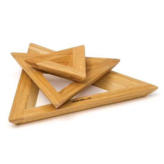 Topfuntersetzer aus Holz, 3-tlg.
