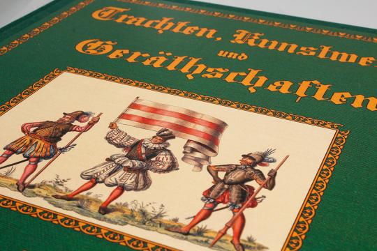 Trachten, Kunstwerke und Geräthschaften vom frühen Mittelalter bis Ende des Achtzehnten Jahrhunderts. 5 Bände.