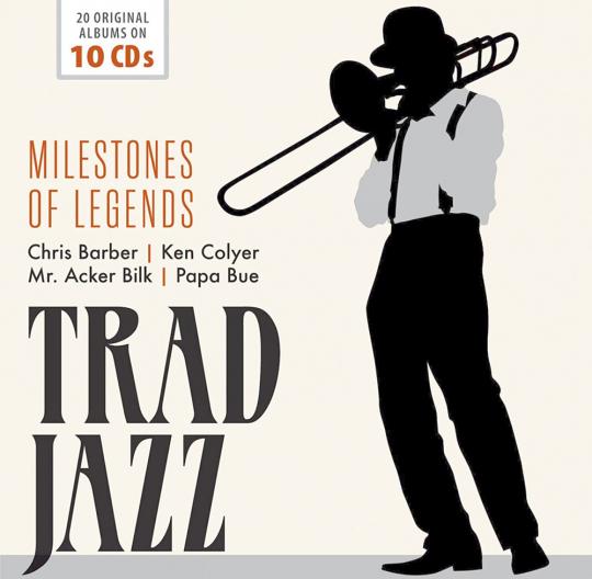 Trad Jazz 10 CDs - Milestones Of Legends