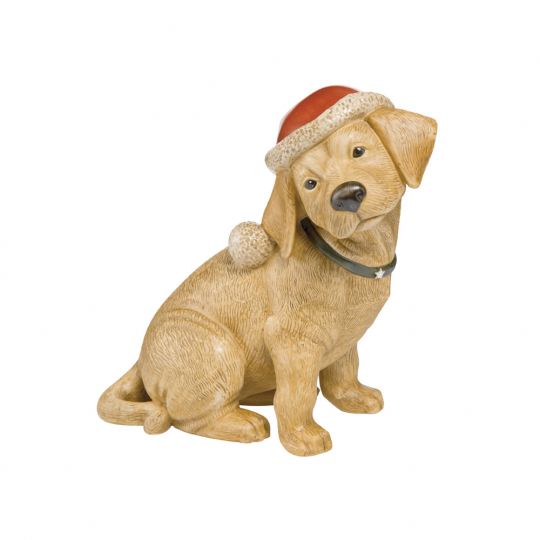 Labrador aus Porzellan.