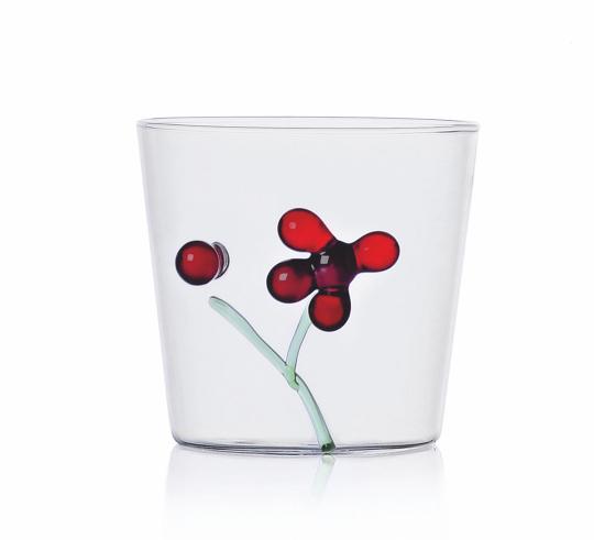 Trinkglas »Rote Beeren«.