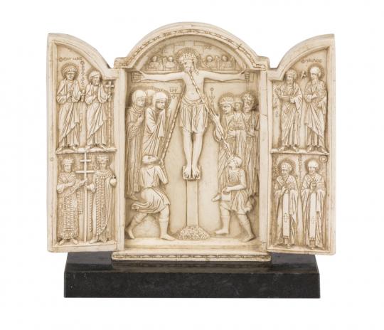 Triptychon mit Kreuzigung. Byzantinisch, 10. Jh.