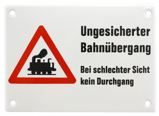 Ungesicherter Bahnübergang.
