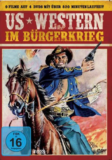 US-Western im Bürgerkrieg. 4 DVDs.