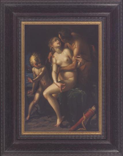 Venus und Satyr. Hans von Aachen (1552 - 1615).
