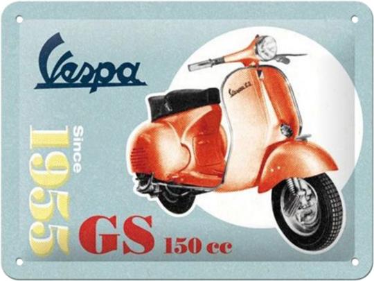Blechschild Vespa GS, 1955.
