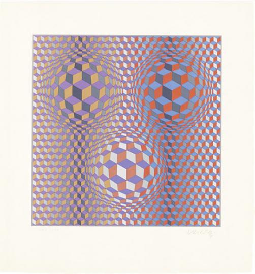 Victor Vasarely. »Konjunktion«. Grafik.