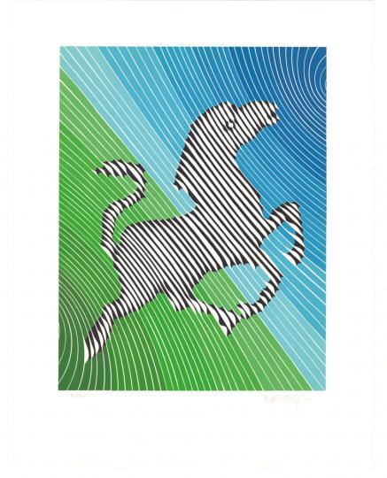 Victor Vasarely. »Zebra No. 2«. Grafik.