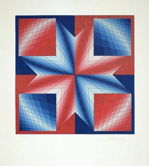 Victor Vasarely »Tsillag« (aus Etoiles Célestes)