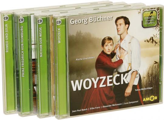 Vier Dramen als Hörspiele. Romeo und Julia, Prinz Friedrich von Homburg, Nathan der Weise, Woyzeck. 4 CDs.