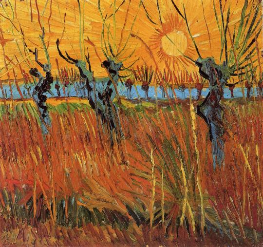 Vincent van Gogh. Weiden bei Sonnenuntergang, 1888.