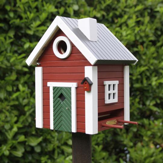 Vogelhäuschen »Schwedenkate«, rot.